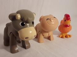 Vintage műanyag figura boci poca kakas játék babaházi