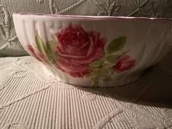 Zsolnay rózsás pogácsás tál 27 cm -  Hungária sorozat