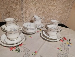 Eladó régi angol Paragon platina szélű teás készlet, kérésre bontom!