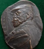 Gaál István (1883-1973): Benczúr Gyula bronz plakett,  kisplasztika