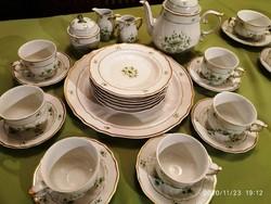 Hollóházi Pannónia sorozat teás és süteményes készlet,
