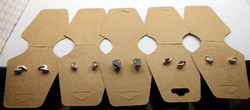 5 darab 925-ös ezüst fülbevaló beszúrós