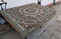Retro  kb 135*140 cm-es virágos Gyönyörű szövött ágytakaró, takaró, terítő, abrosz nosztalgia darab