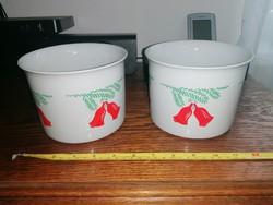 Zsolnay Karácsonyi kaspó pár