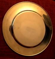 Vintage 6 személyes sárgaréz tányéralátét garnitúra, a dán Stelton cégtől