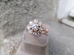 Brilles karmazált arany gyűrű