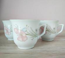 Liling kínai porcelán kávés csészék aljukkal