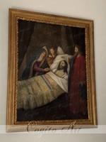 XVIII.sz-i Barokk festmény restaurálva