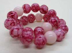 Szép régi karkötő színes üveg gyöngyökből