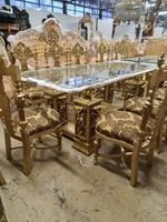 Aranyozott barokk étkező,ebédlő garnitúra