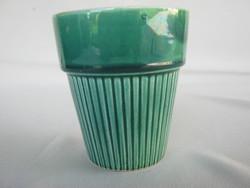Retro Gránit kerámia zöld pohár