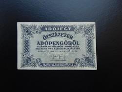 500000 adópengő 1946 sorszám nélkül   04