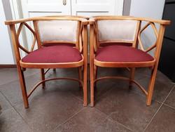 Thonet Fledermaus fotel, bécsi szecesszió, Josef Hoffmann terv