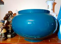 Zsolnay antik kaspó egyedi színű mázzal! Hatalmas méretű!