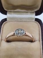 Klasszikus Ragyogó Tüzes Gyémánt Gyűrű 0.5 Cts