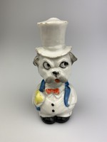 Porcelán mozgó fejű buldog / kutya