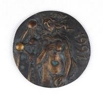 1C790 Madarassy Walter : Vénusz bronz plakett 1991