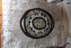 Egyedi antik ovális abrosz  160 cm