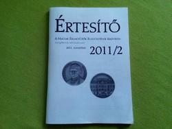 Értesítő - A Magyar Érmegyűjtők Egyesületének kiadványa 2011/2 (id2492)