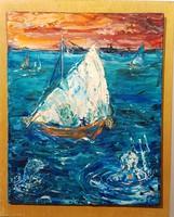 Rác András: Neptun és vitorlás hidegzománc