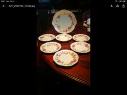 Zsolnay 6 sz.pillangós süteményes készlet, ajándék hamutartóval