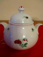 Bécsi Augarten porcelán cukortartó , kézi festés