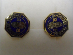Gendarmerie Nationale RF .mandzsetta gomb aranyszínbe Makulátlan! Ajándéknak is kiváló választás!