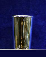Elegáns ezüst keresztelő pohár