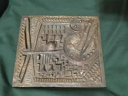 Ritka Kopcsányi Ottó bronz falidísz