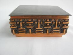 Zsűrizett Móga Sándor iparművész bronz doboz