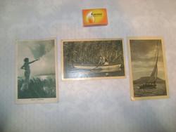 Három darab régi balatoni képeslap