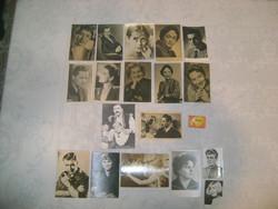 Régi színész képeslapok, fotók - 12 magyar, 6 külföldi - Németh Marika, Venczel vera, Muráti Lili,