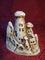 Gipsz szobor, kapadokyai emlék, hossza 9, magassága 9,5 cm.