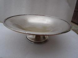 Igazán antik talpas antik asztalközép kínáló  22 x 10 cm nyszilver