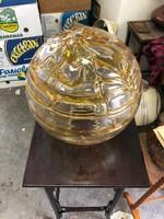 Hatalmas üveg lámpabúra, 35 cm átmérő, 10 cm foglalat méret.
