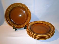 4 db régi Colditz kerámia mély leveses tányér + 1 ajándék lapos tányér