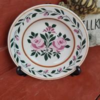 Gyönyörű virágos falitányér,   tányér, nosztalgia darab