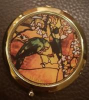 Jó minőségű Goebel aranyozott pipere tükör Tiffany - Madarak, új