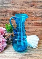 19. századi Kék üveg kancsó, kiöntő