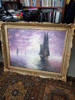 Régi olajvászon  festmény