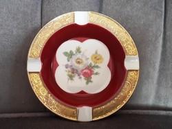 Bavaria porcelán hamutál, bordó-arany