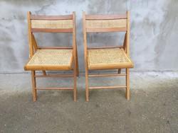 Összecsukható nádszövet szék