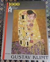 Gustav Klimt _ Csók _ 1000 db - os puzzle