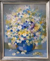 Pleidell János, nagyméretű festmény, 80x65 cm, olaj, vászon, szignózott