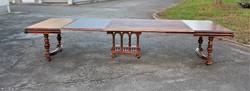 Antik ónémet,reneszénsz stílusú dúsan faragott hatalmas étkezőasztal 380cm!