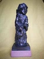 Kárpáti Tamás  nagyon szép bronz szobra