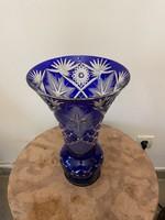 Hatalmas kristály váza