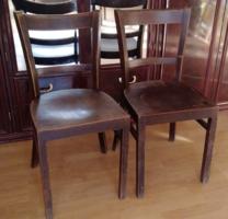 2 darab antik art deco  fa szék