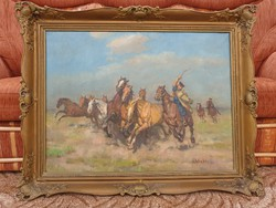 Viski János festmény 60x80
