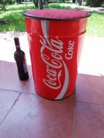 Gyűjtőknek! Rendkivül ritka vintage Coca Cola tároló és ülőke a '90-es évekből. 45x30 cm